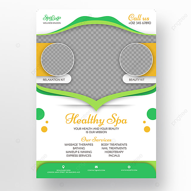 healthy spa flyer template template for free download on pngtree