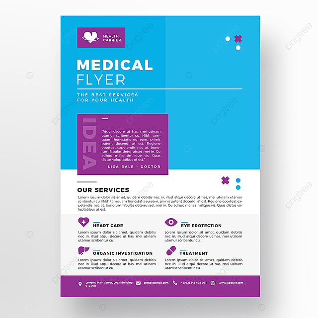 blue medical flyer template template for free download on pngtree