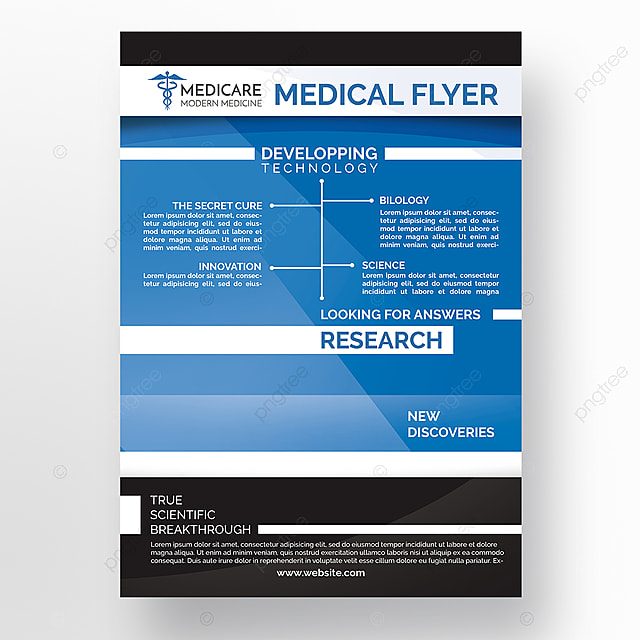 medical research flyer template template for free download on pngtree