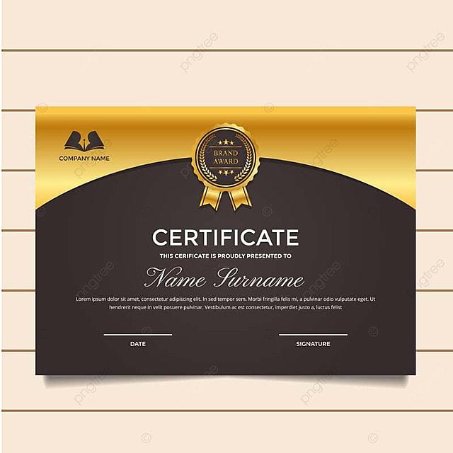 Modern Premium Company Certificate Of Achievement And ...