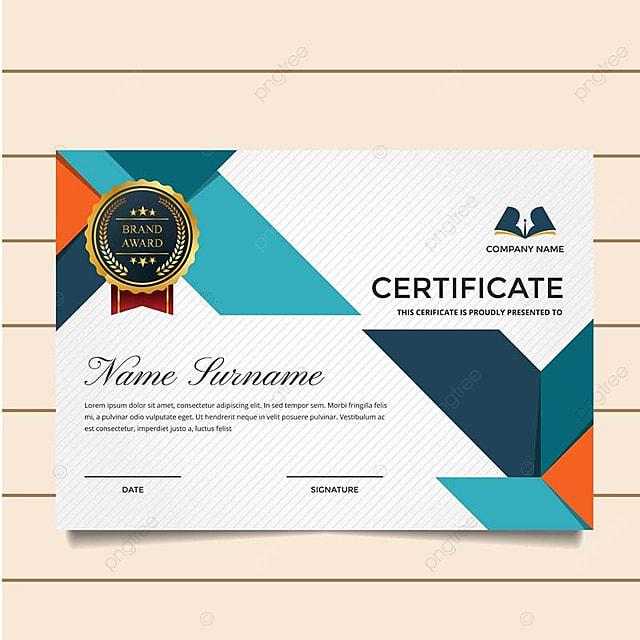modern premium company certificate of achievement and