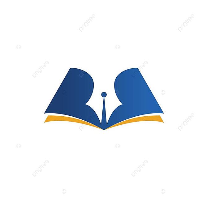 Logo Bleu Et Livre L Education Symbole Modele De