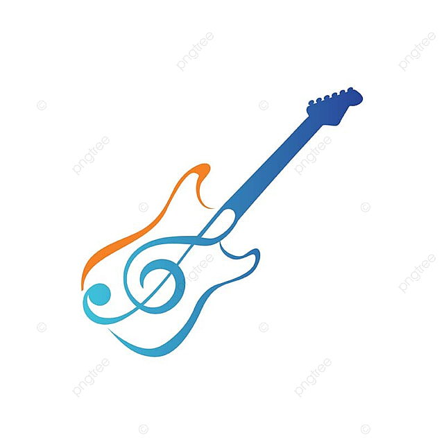 modern guitar music logo template for free download on pngtree