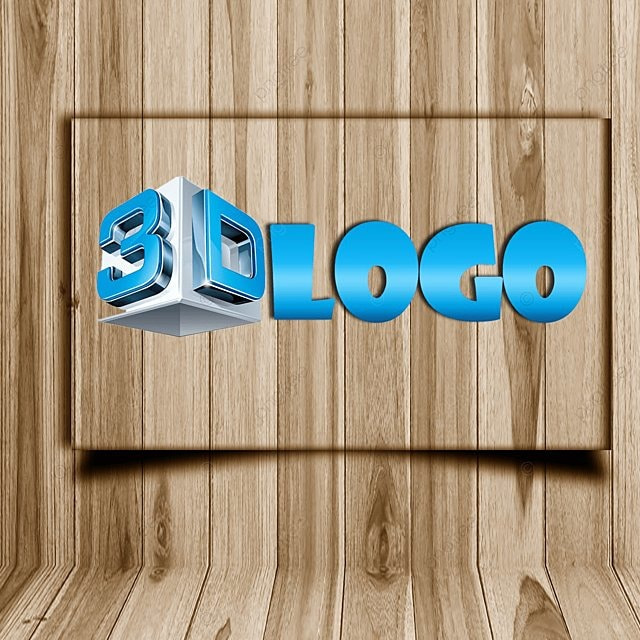 3d Logo Mockup Free template wooden mockup Template for Free