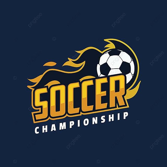 Campeonato De Fútbol Moderno Llameante Deporte Profesional Insignia