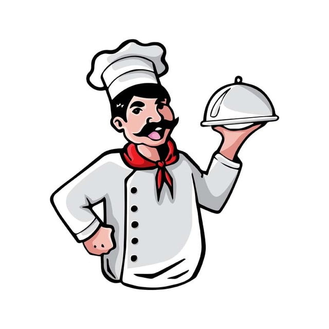 modern chef occupation people cartoon logo template for free