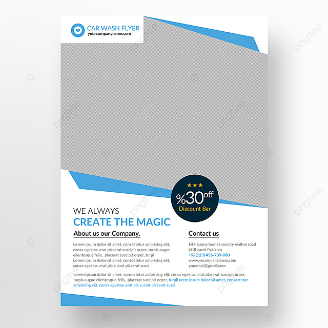 Car Wash Flyer Template Template For Free Download On Pngtree