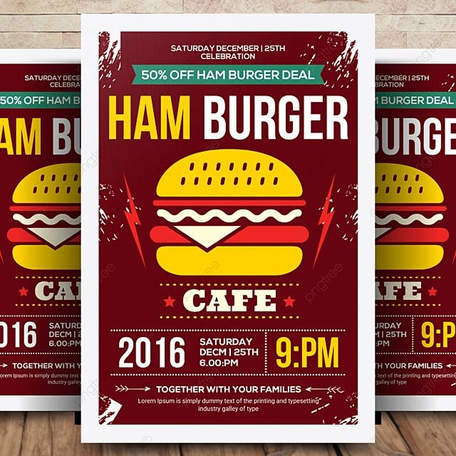 Fun Burger Flyer Amp Menu