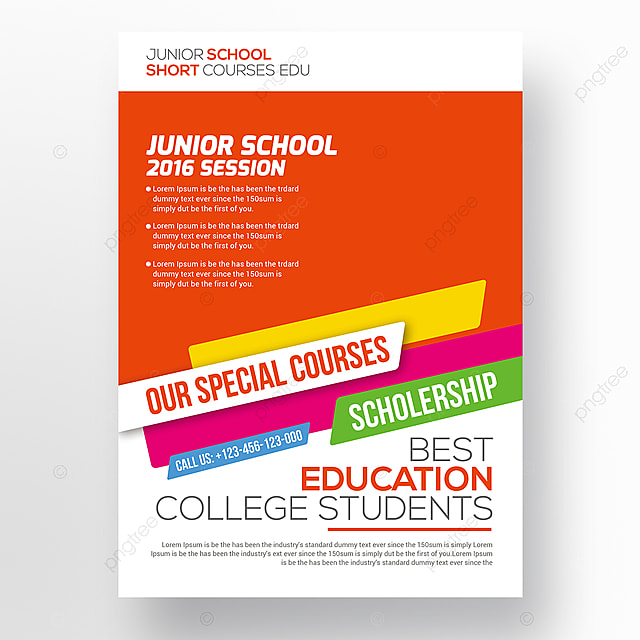 Kids Education Flyer Template Template for Free Download on Pngtree