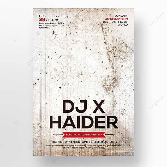 dj flyer template template for free download on pngtree