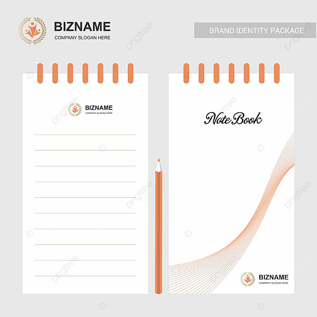 Notebook design with company vector template for free download on notebook design with company vector template maxwellsz