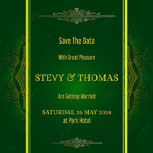 Green Invitation With Mandala Background Template For Free