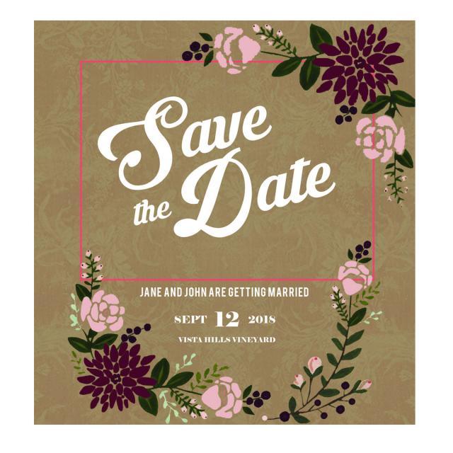 Rustic Wedding Invitation Templates | Rustic Wedding Invitation Template For Free Download On Pngtree