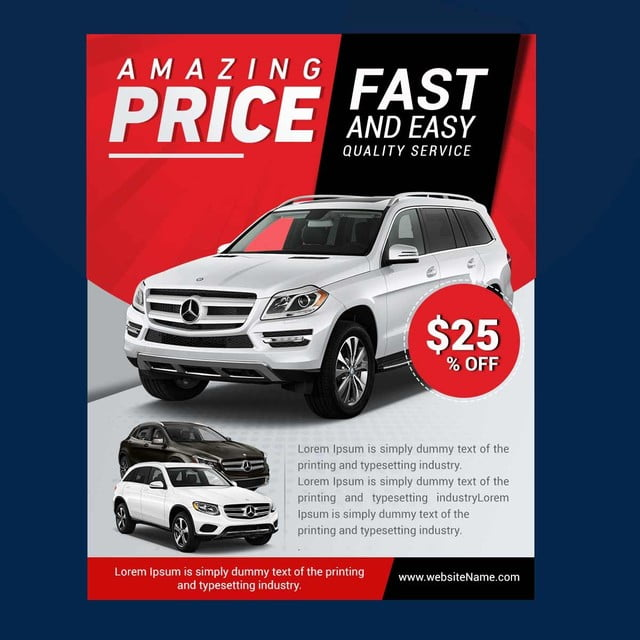 car flyers template for free download on pngtree