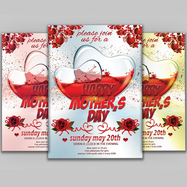 Happy Mothers Day Flyer Template For Free Download On Pngtree