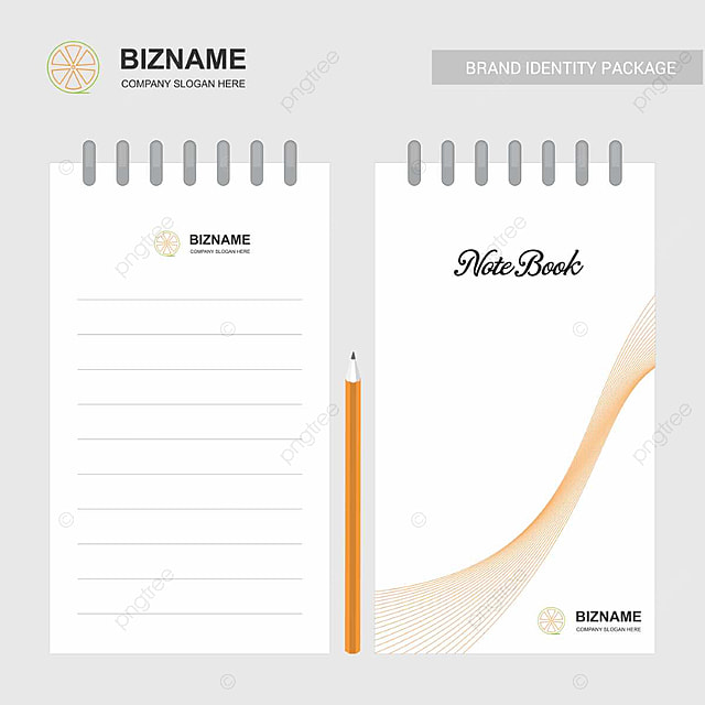 Company slogan notebook design vector Template for Free Download on ...