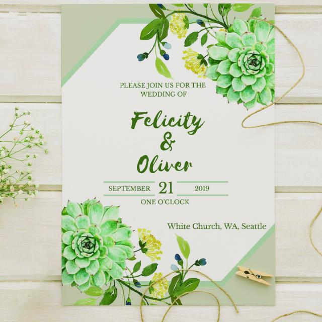 Green Invitation Template For Free Download On Pngtree