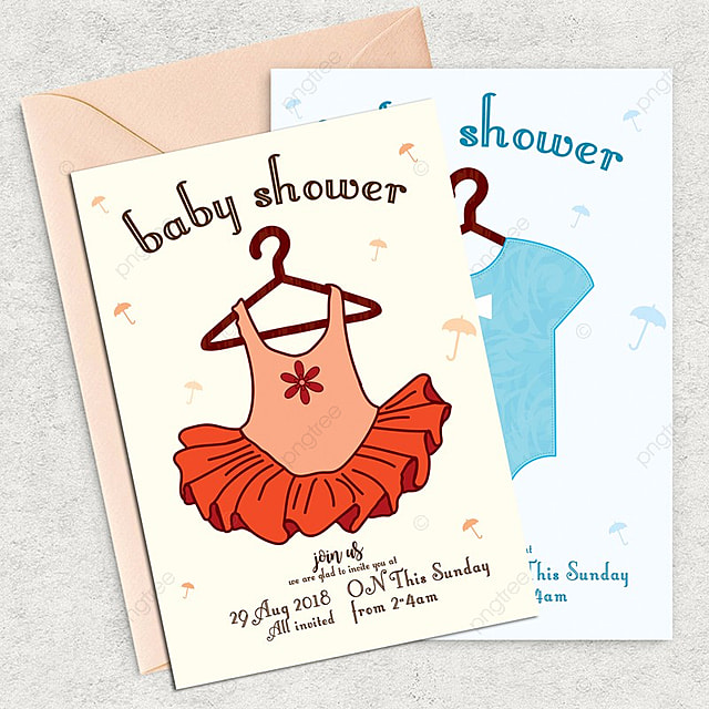 Baby Shower Invite Card Template Template For Free Download