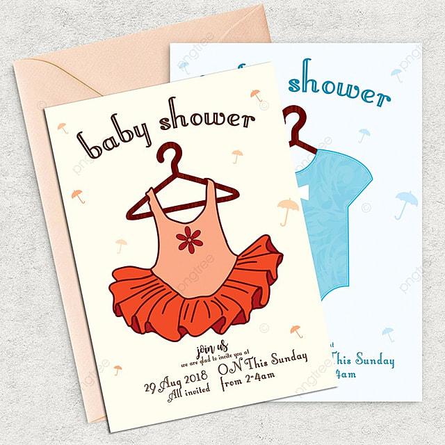 Plantilla De Tarjeta De Invitacion De Baby Shower Descarga