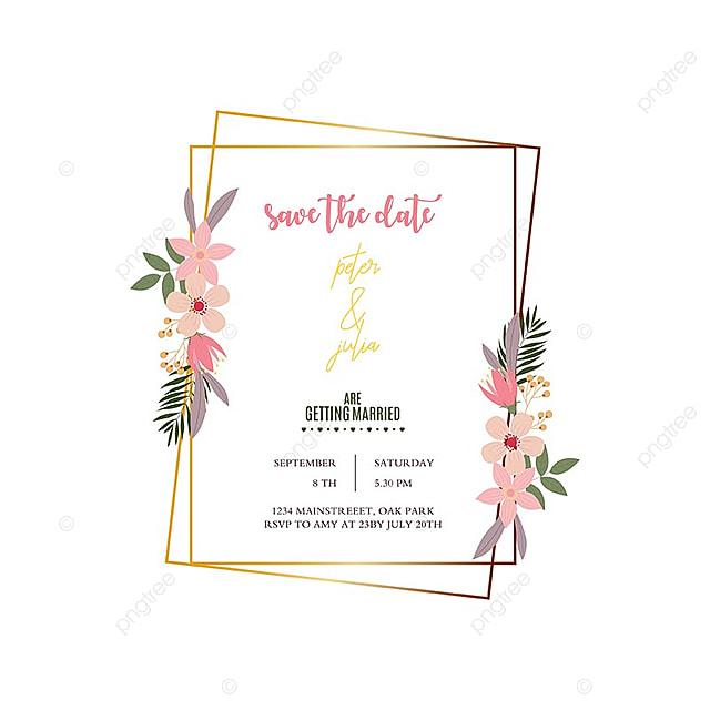 elegant wedding frame template for free download on pngtree