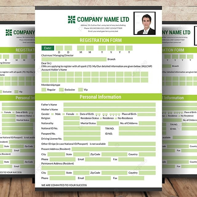 registration form template template for free download on pngtree