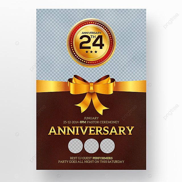 24th anniversary flyer psd template for free download on