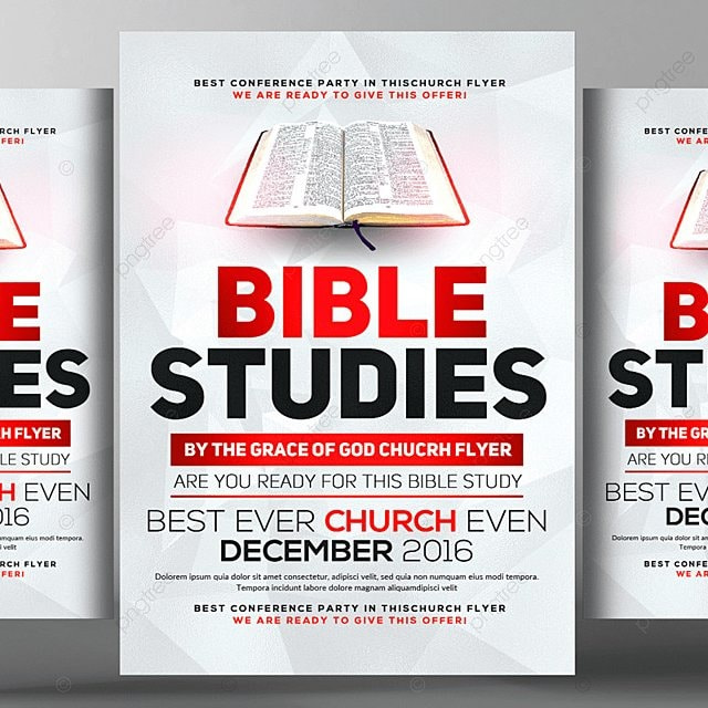 bible study flyer template template for free download on