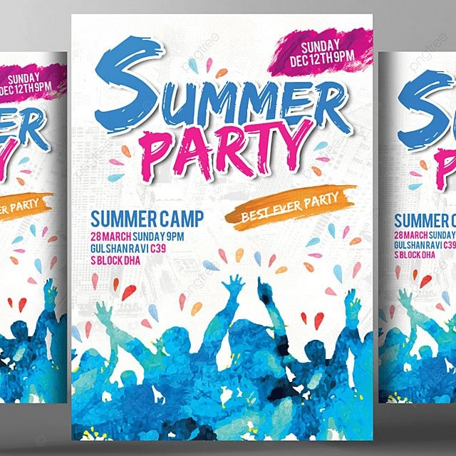 summer party flyer template template for free download on pngtree
