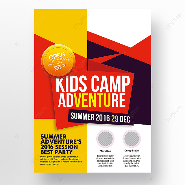 Kids Camp Flyer Template Template For Free Download On Pngtree