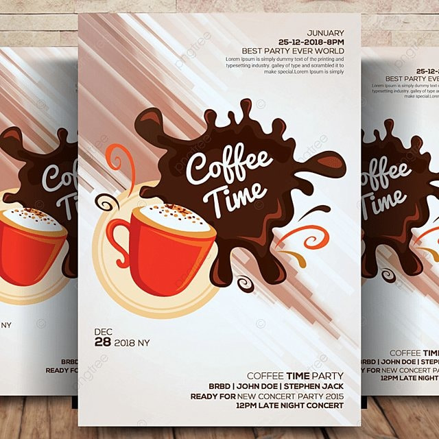 coffee flyer template template for free download on pngtree