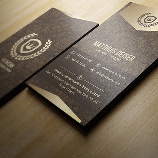 black and gold luxury business card template for free