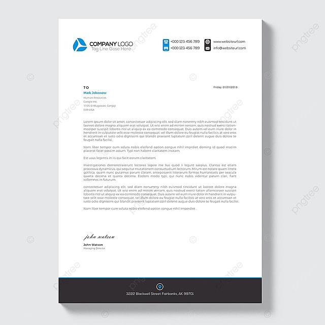 Elegant letterhead template design in minimalist style Template for ...