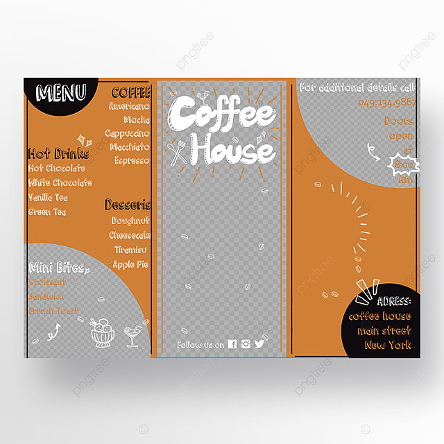set of coffee menu template for free download on pngtree