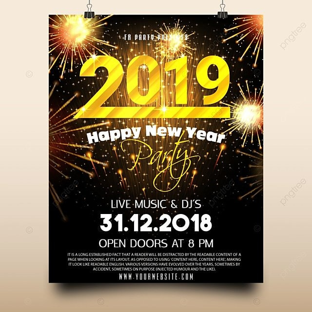 New year party poster design Template for Free Download on Pngtree