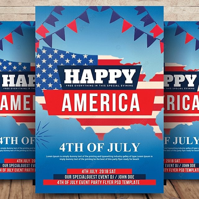 4th of july flyer template for free download on pngtree