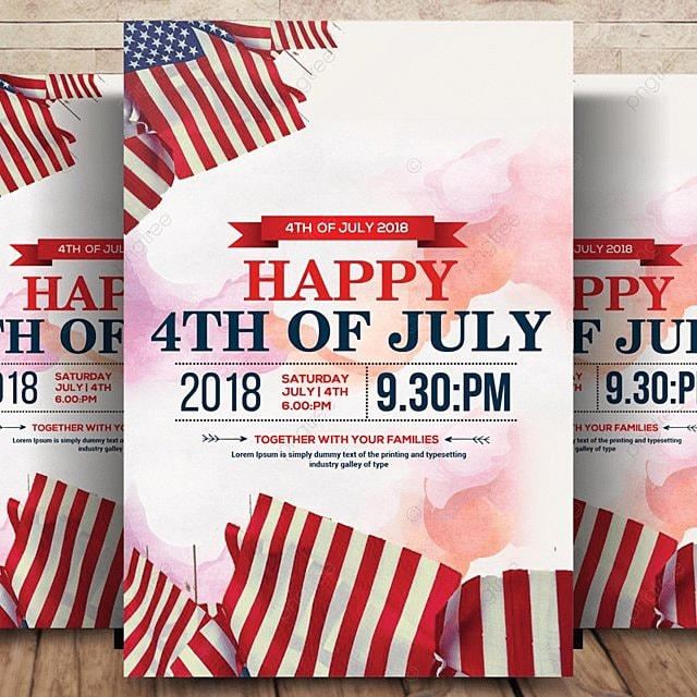 4th of july american flag american independence day usa independence day template