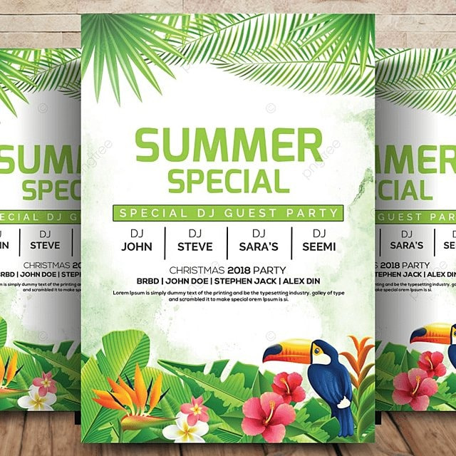 summer party flyer template for free download on pngtree