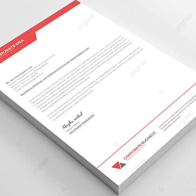 letterhead stationery template for free download on pngtree