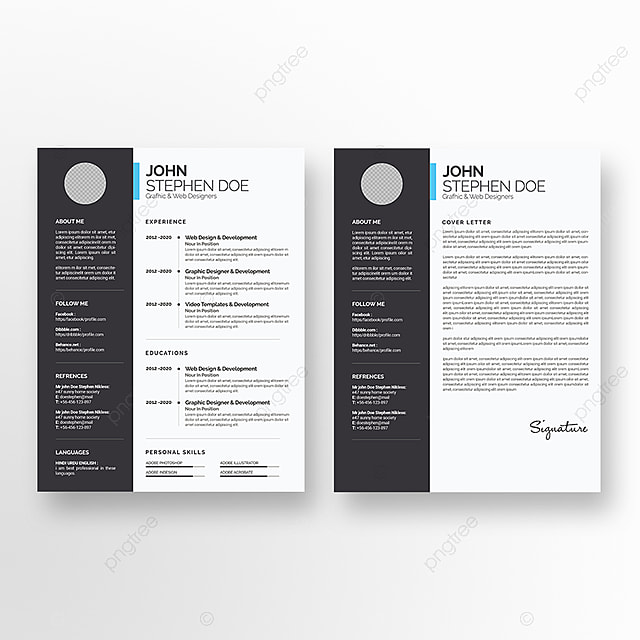 resume cv stationery template for free download on pngtree