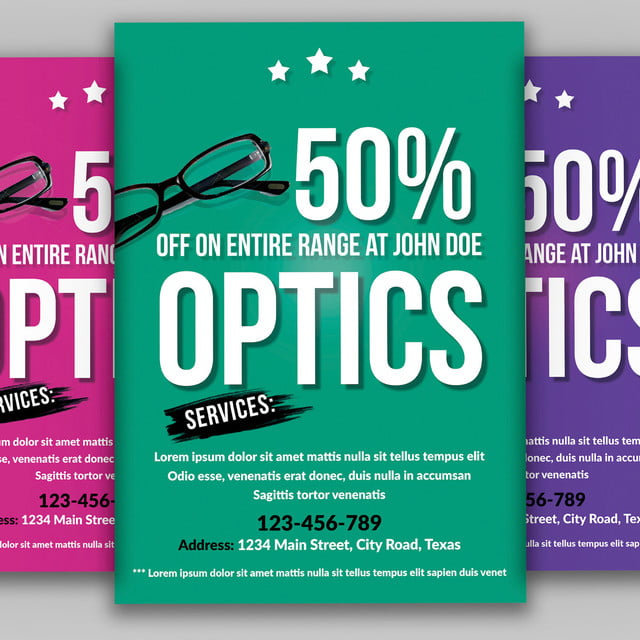 optical store flyer template for free download on pngtree