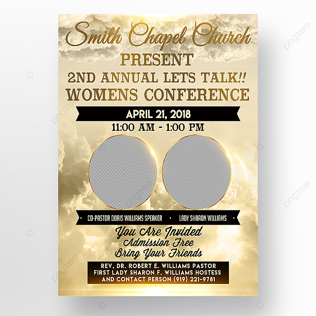 Church Conference flyer Template for Free Download on Pngtree