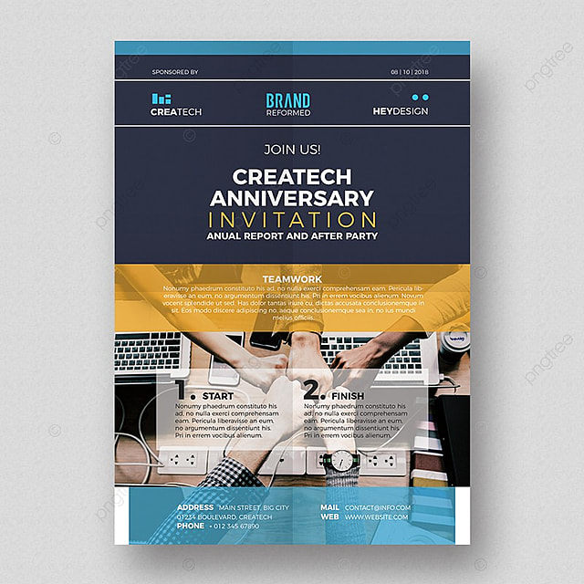 corporate anniversary flyer template template for free download on