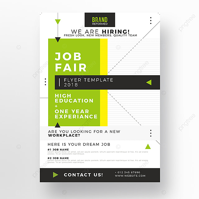 job fair flyer template template for free download on pngtree
