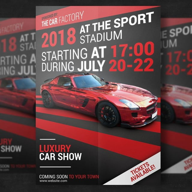 Luxury Car Show Flyer Template Template For Free Download On Pngtree - Car show flyer template
