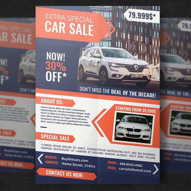 Car Dealer Flyer Template Template For Free Download On