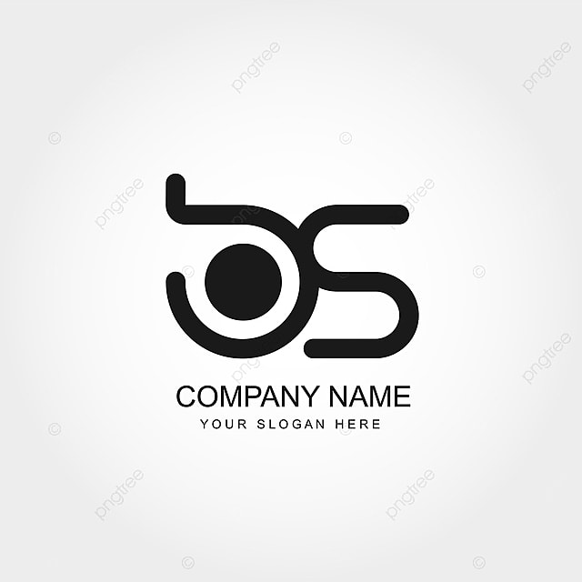 initial letter bs logo template vector design template for
