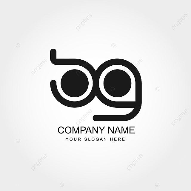 Initial Letter Bg Logo Template Vector Design Template For