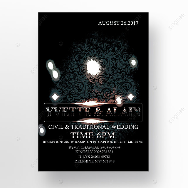 luxury wedding flyer template template for free download on pngtree