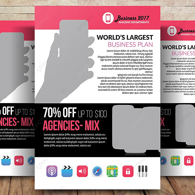 mobile app promotion flyer template for free download on pngtree