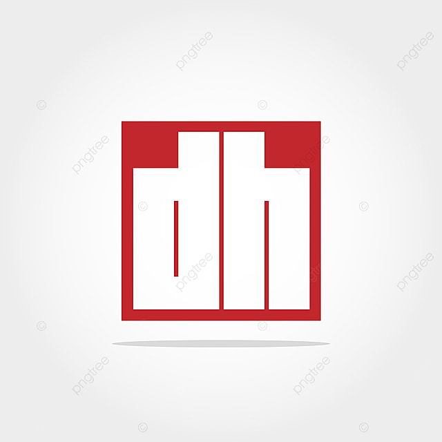 initial letter dh logo template design template for free download on
